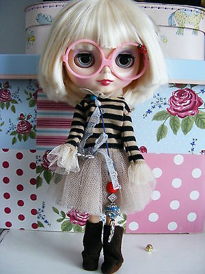 Factory Blythe Doll, with custom eyes and outfit