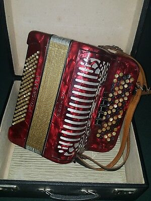 Vintage Hohner ACCOROINA II Chromatic Accordion 5 Row With 96 Bass Buttons