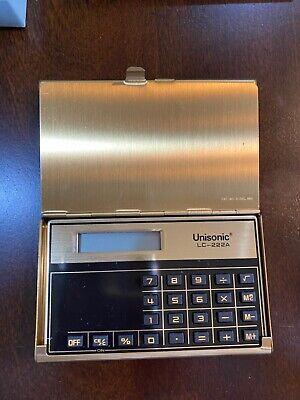 Vintage Gold Pocket Calculator Wbusiness Card Holder Kroger Champions Of Change