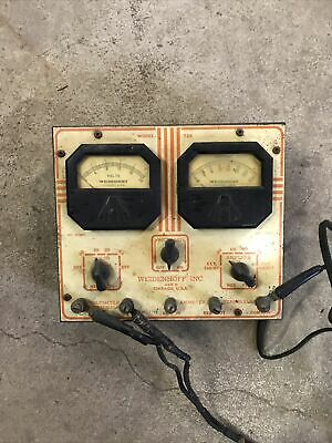 Steampunk Decor Vintage Weidenhoff Voltmeter Model 725 Volt Usa Made
