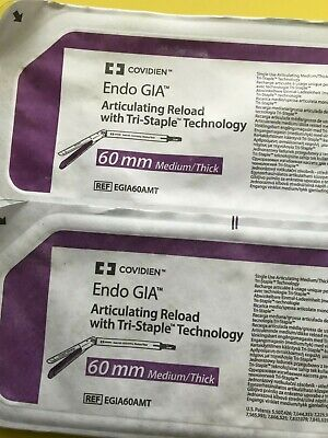 Lot Of 2 Covidien Endo Gia Articulating 60mm Egia60amt Dated 2024-01-31