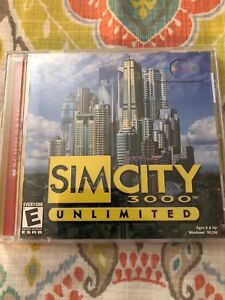 Sim City 3000 Unlimited PC CD ROM Game