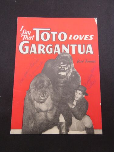 Ringling Brothers And Barnum Bailey Gargantua And Toto Program RARE! 1940s