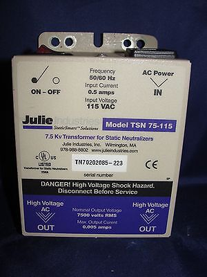 Julie Industries Staticsmart 7.5 Kv Transformer For Static Neutralizers Tsn 75-1