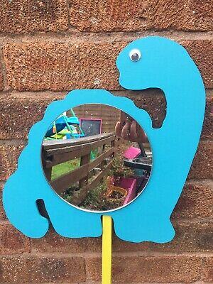 Handmade Garden Mirror - Children's Outdoor Dinosaur Mirrors Garden Handmade Sensory EYFS Acrylic