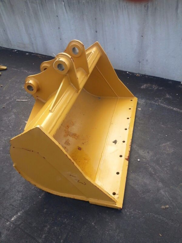 """New 48"""" Caterpillar 308ecr Ditch Cleaning Bucket With Pins"""