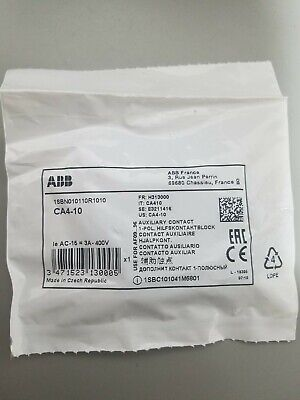 New ABB CA4-10 Aux Contact Blocks Front Mount Free Shipping