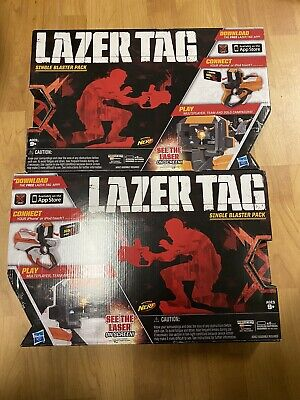 2 Nerf Hasbro Lazer Tag Single Blaster Pack Iphone Ipod Compatible