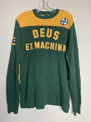 Deus Ex Machina Moto X Knit Sweater With Elbow Patches