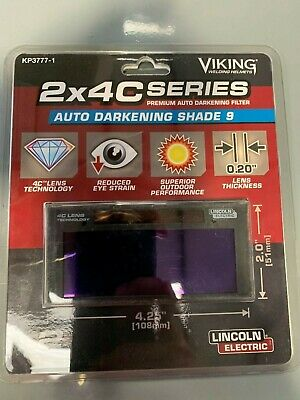 Lincoln Electric Kp3777-1 C-series 2x4 Auto-darkening Welding Lens - Shade 9