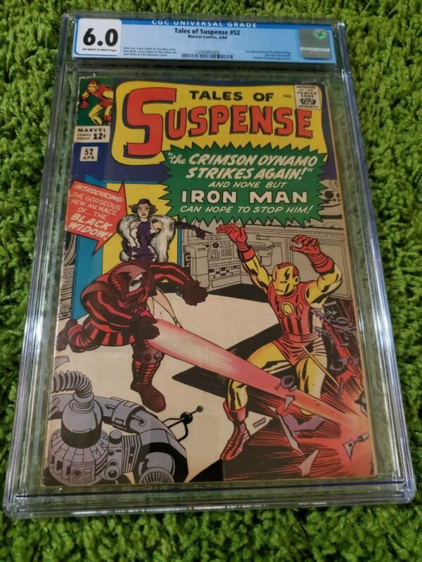TALES OF SUSPENSE #52 1st App Black Widow CGC 6.0 FN Marvel Comics 1964