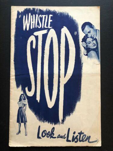 "Whistle Stop Original Movie Pressbook (1946) - 20 Pages - 11"" x 17""  EX"