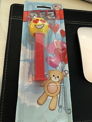 Pez Dispenser Yellow Bald Head With Red Heart Eyes- New In Package](Red Heart With Eyes)