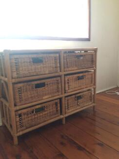 Cane/ wicker/ rattan drawers
