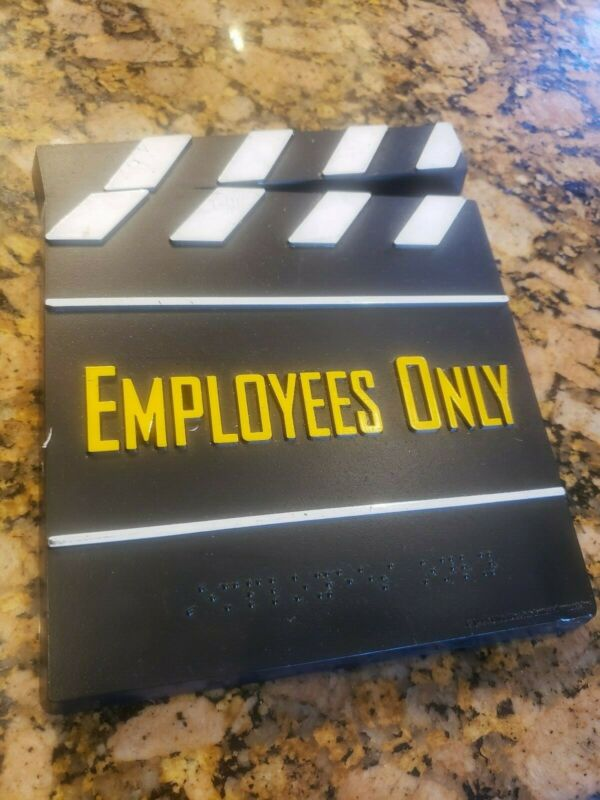 Blockbuster Video Sign Employees Only store sign- Super Rare!!