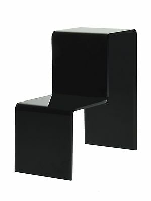 2 Tier Black Acrylic Counter Top Riser Stand
