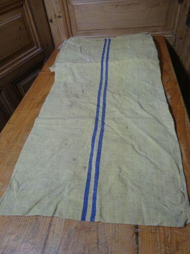 Antique European Feed Sack GRAIN SACK Blue Stripe # 10013