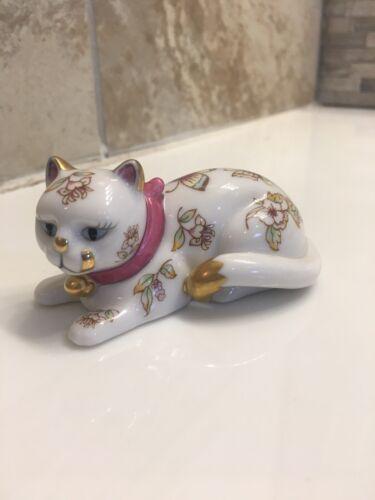 Vintage FRANKLIN MINT Curio Cabinet Cat Figurine SATSUMA - $29.99