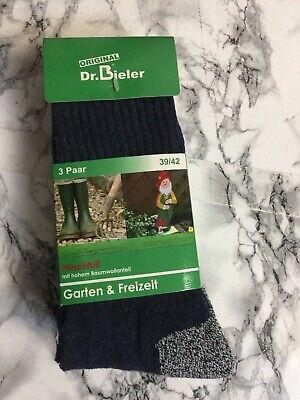 Garten und Freizeitsocken - Dr. Bieler - 3er Pack - Gr. 43/46 - NEU