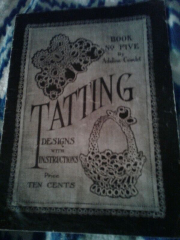 Adeline Cordet #5 c.1916 Popular Vintage Instructions in Tatting & Shuttle Laces