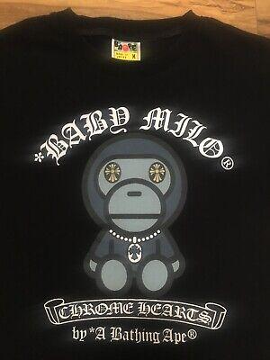 A Bathing Ape x Baby Milo x Chrome Hearts 2009 Plush Doll t-shirt Rare Medium Man Baby Doll T-shirt