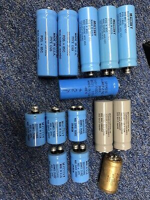 Huge Used Sprague Mallory Tune Amp Cap Electrolytic Capacitor Lot 380uf 220 350v