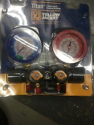 Yellow Jacket 49982 Manifold Only Liquid Gauges Barpsi R-410a - F