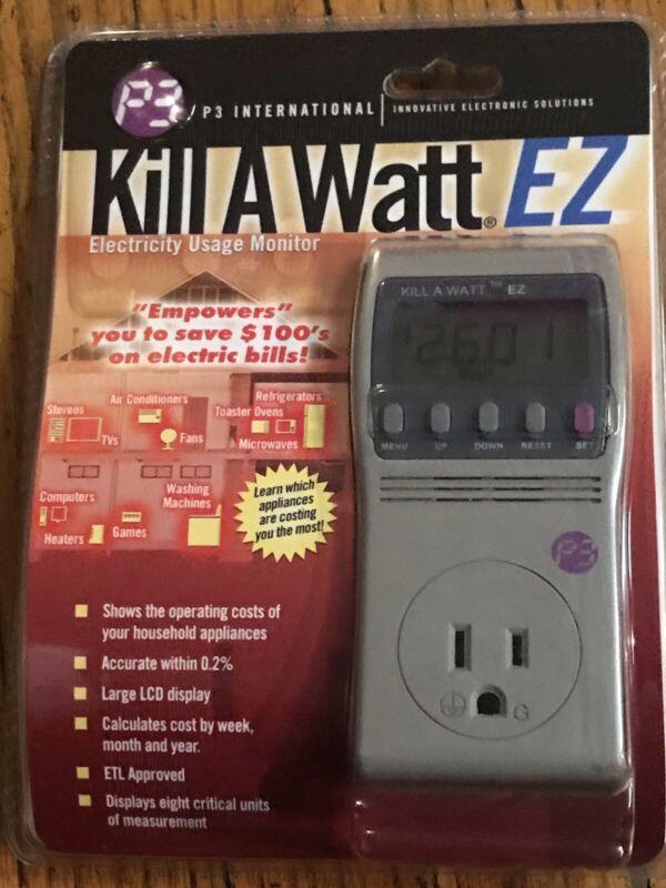 Kill a Watt EZ Electricity Usage Monitor P3 Model P4460 New Sealed LCD Display