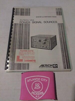 Ailtech 125a Power Signal Sources Operation And Maintenance Manual