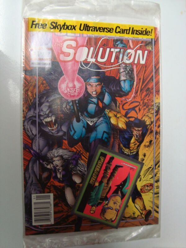 Ultraverse Comic Book The Solution #1 sealed with trading card