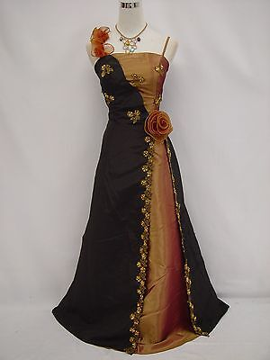 Cherlone Black Ballgown Wedding Evening Bridesmaid Formal Full Length Dress 12