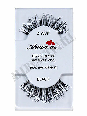 AmorUs 100% Human Hair False Eyelashes #WSP (pack of 6 pairs) compare Red Cherry