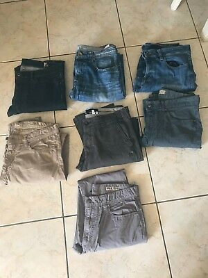 lot jeans chino MARLBORO CLASSICS GUESS OXBOW...homme taille us 32 x 34 (fr 42)