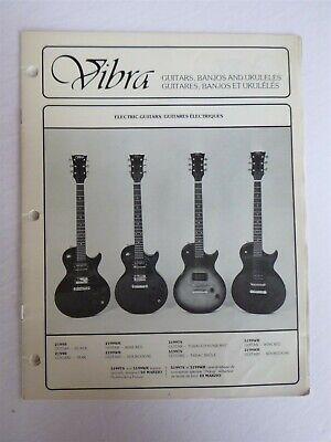 Vintage VIBRA Guitars, Banjos, & Ukuleles Catalog & Price List - 1980