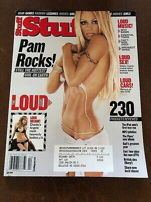 Stuff Magazine Pam Pamela Anderson Cover April 2004