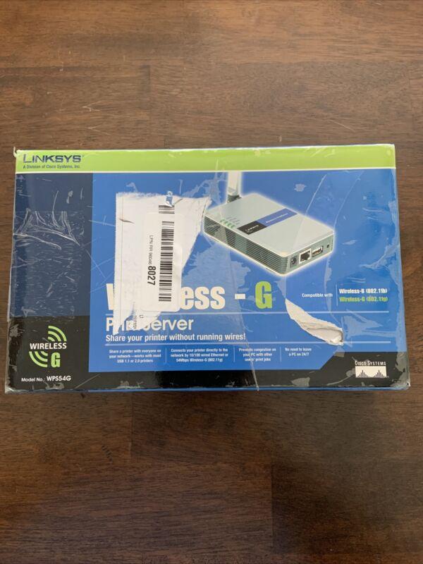 Linksys WPS54G Wireless-G PrintServer New Open Box