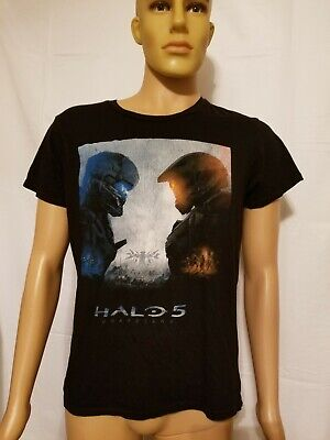 XBox 360 One Halo 5 Guardians Black Tee Shirt Master Chief Medium Microsoft for sale  Shipping to India
