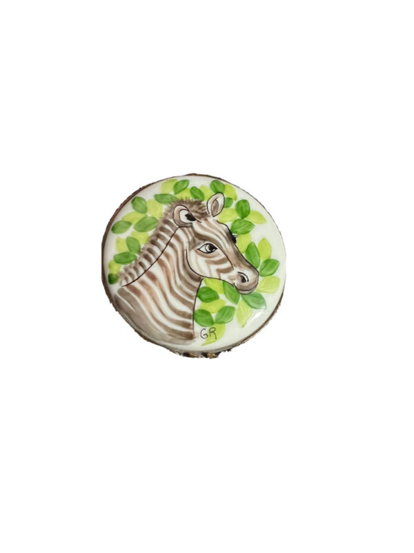 Limoges French Hand Made Hand Painted Zebra Animal Trinket Box