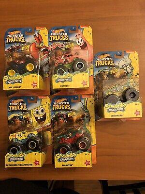 Hot Wheels 2020 Monster Trucks - SpongeBob Squarepants Complete Set of 5 GKD15