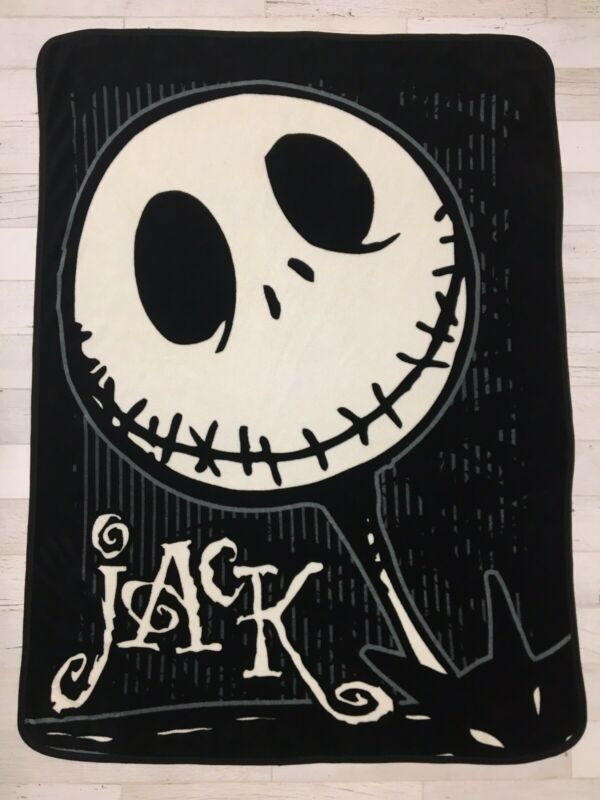 Jack Skellington Soft Fleece Throw Blanket 44x59 Nightmare Before Christmas