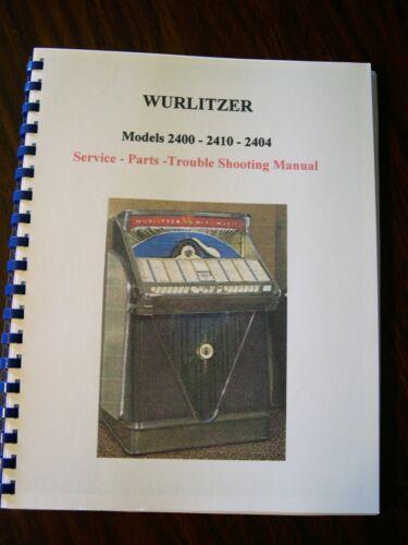 Wurlitzer 2400 - 2410 - 2404 Jukebox Manual