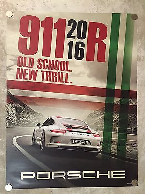 "2016 Porsche 911 R ""Old School"" Showroom Advertising Sales Poster RARE!! Awesome"