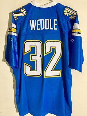 Light Blue Nfl Jerseys - Reebok Premier NFL Jersey San Diego Chargers Weddle Light Blue Alternate sz 2X