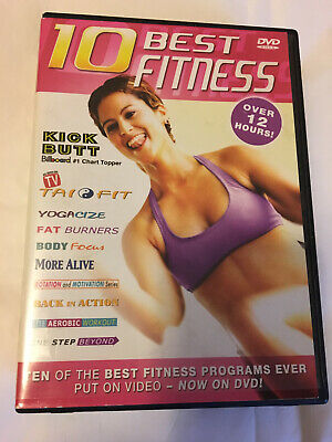 Box Set of 10 Best Fitness DVD-Over 12 hours