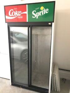 Double sliding door cooler (coke/sprite logo)
