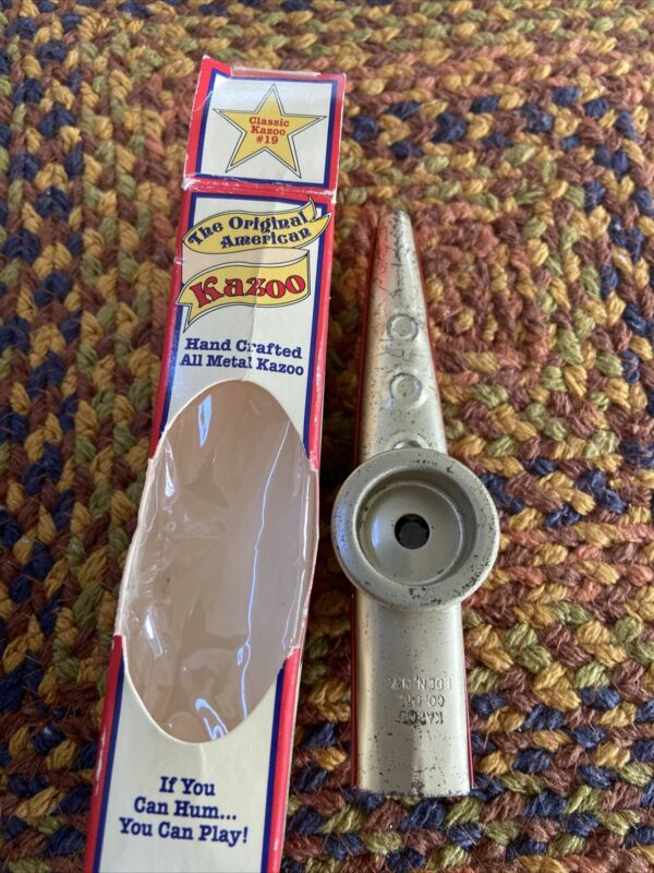 The Original American Kazoo Silver & Red All Metal NEW in Box Made in the U.S.A.