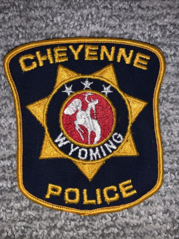 CHEYENNE WY WYOMING POLICE SHOULDER PATCH - NEW NEVER SEWN