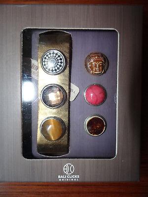 """Lederarmband """"BALI CLICKS ORIGINAL"""", Gr.L, goldfarben, 6 Clicks, NEU m. OVP"""