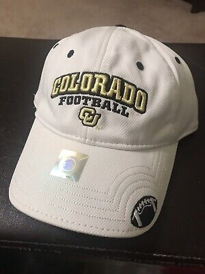 NEW White University of Colorado Buffaloes Football Hat..The GAME..Metal Clasp