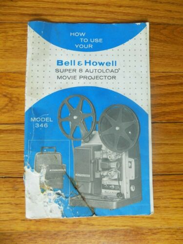 Vintage Bell & Howell 346 Original Instruction Manual Booklet Only